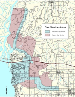 Daphne Utilities Natural Gas Service Area